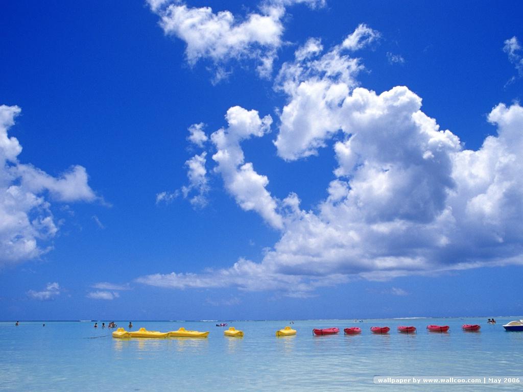 晴朗天空 - 藍天白云 晴朗天空 - 海天一色5 : 1024 * 768